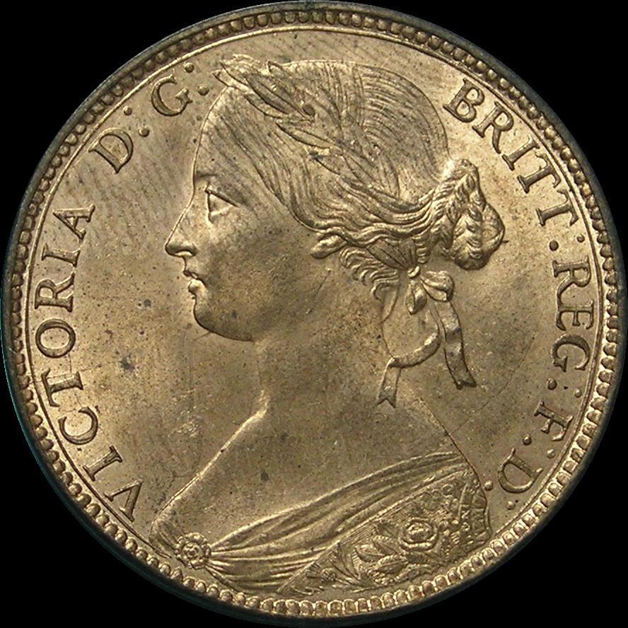 Pennies, Bronze Bun Head, 1860-1874